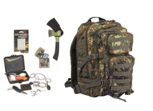 survival rucksack kit set
